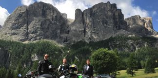 Three Amigos On Motorcycles In Italy