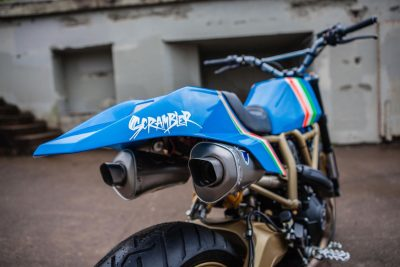 Ducati Maverick Scrambler by GRIME exhaust