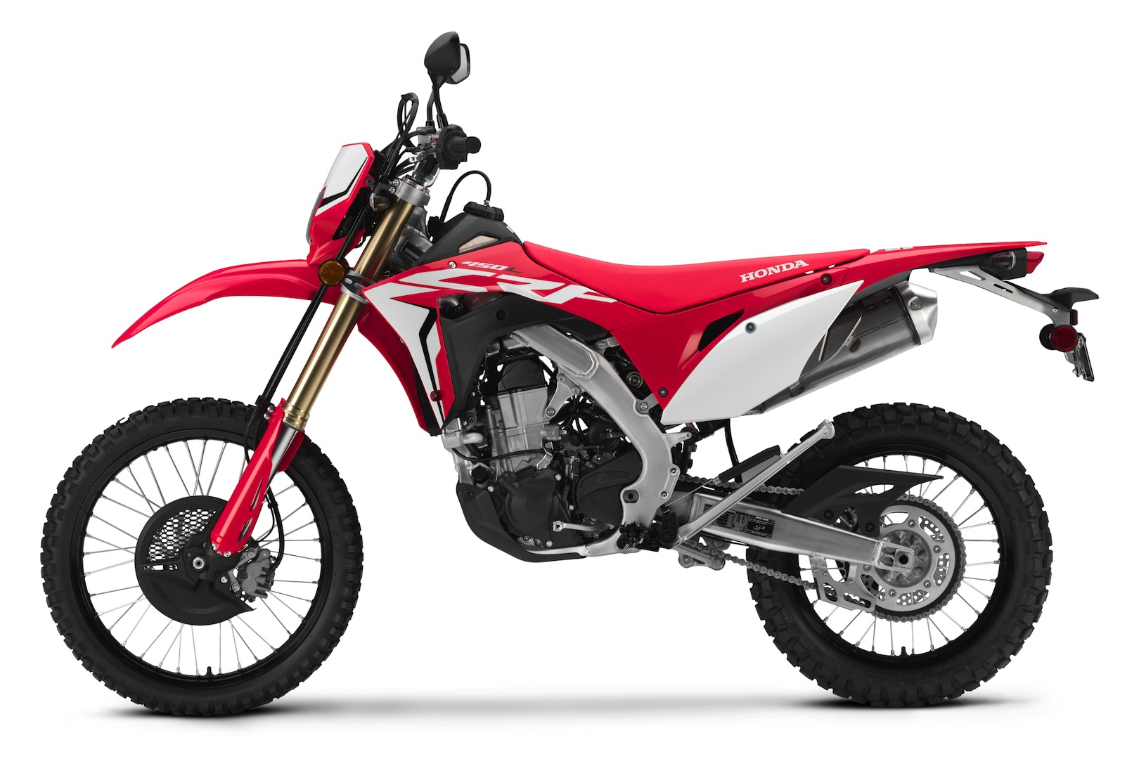 Motorcycle Rear Tire >> 2019 Honda CRF450L First Look | 7 Fast Facts and Photos