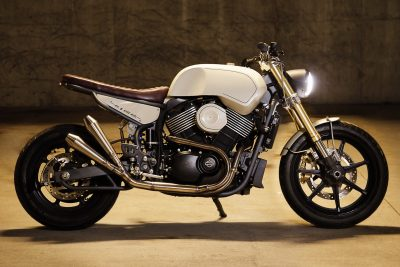 No. 8 Wire Motorcycles' Custom Harley-Davidson Street white