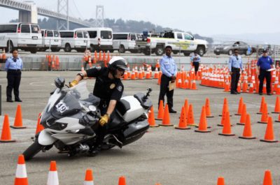 Police competition motorcycles