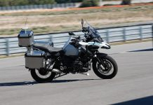 BMW R 1200 GS Autonomous Motorcycle in action