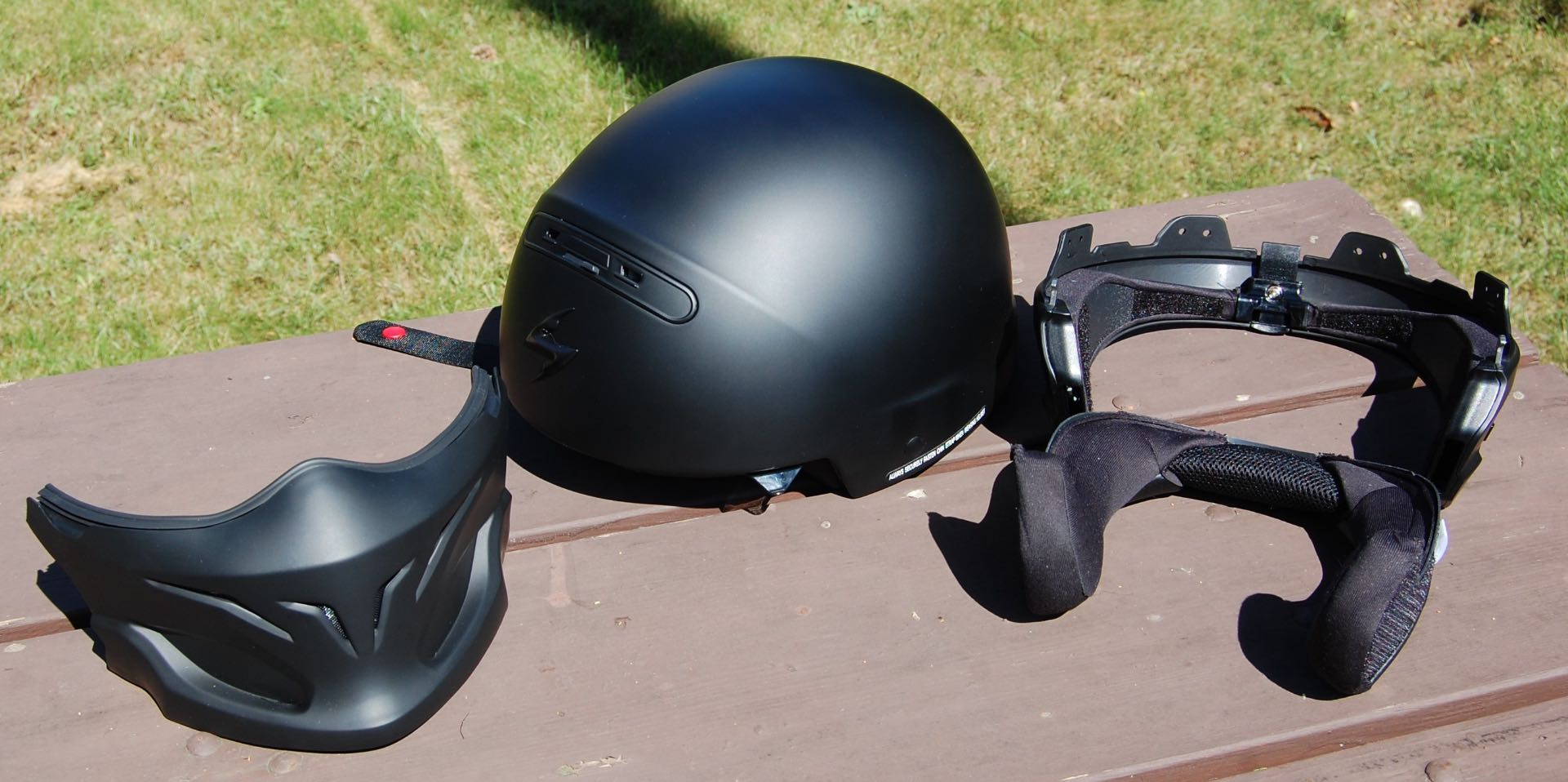 Scorpion Covert 3-in-1 Helmet disassembled