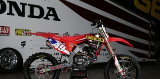 Kevin Windham's Motocross des Nations Honda CRF450R eBay auction