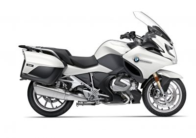 white 2019 BMW R 1250 RT
