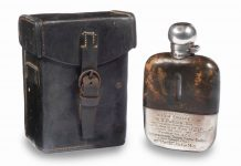 Rem Fowler 1907 win Isle of Man TT Hip Flask