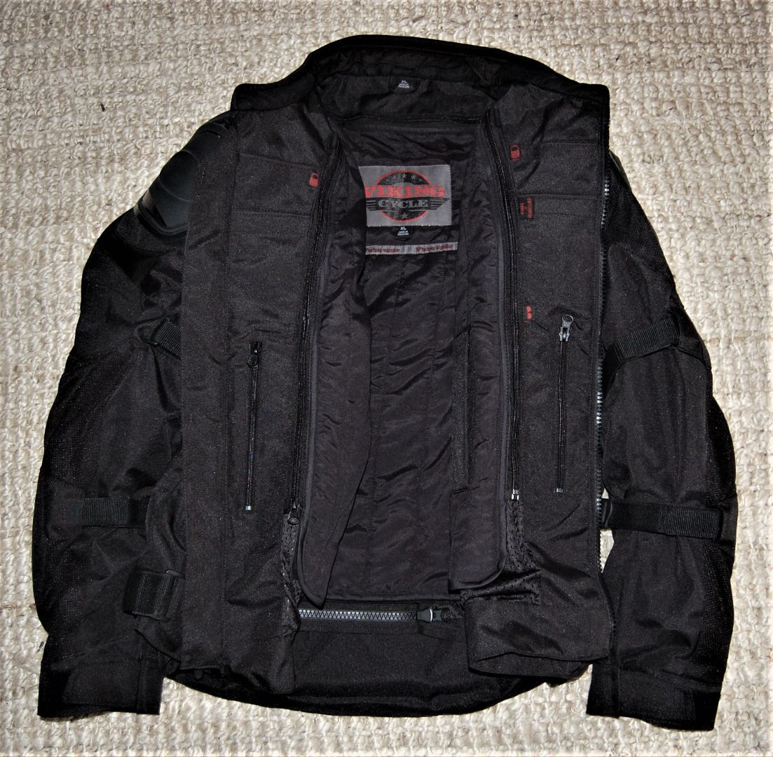 Viking Cycle Stealth Motorcycle Jacket interior