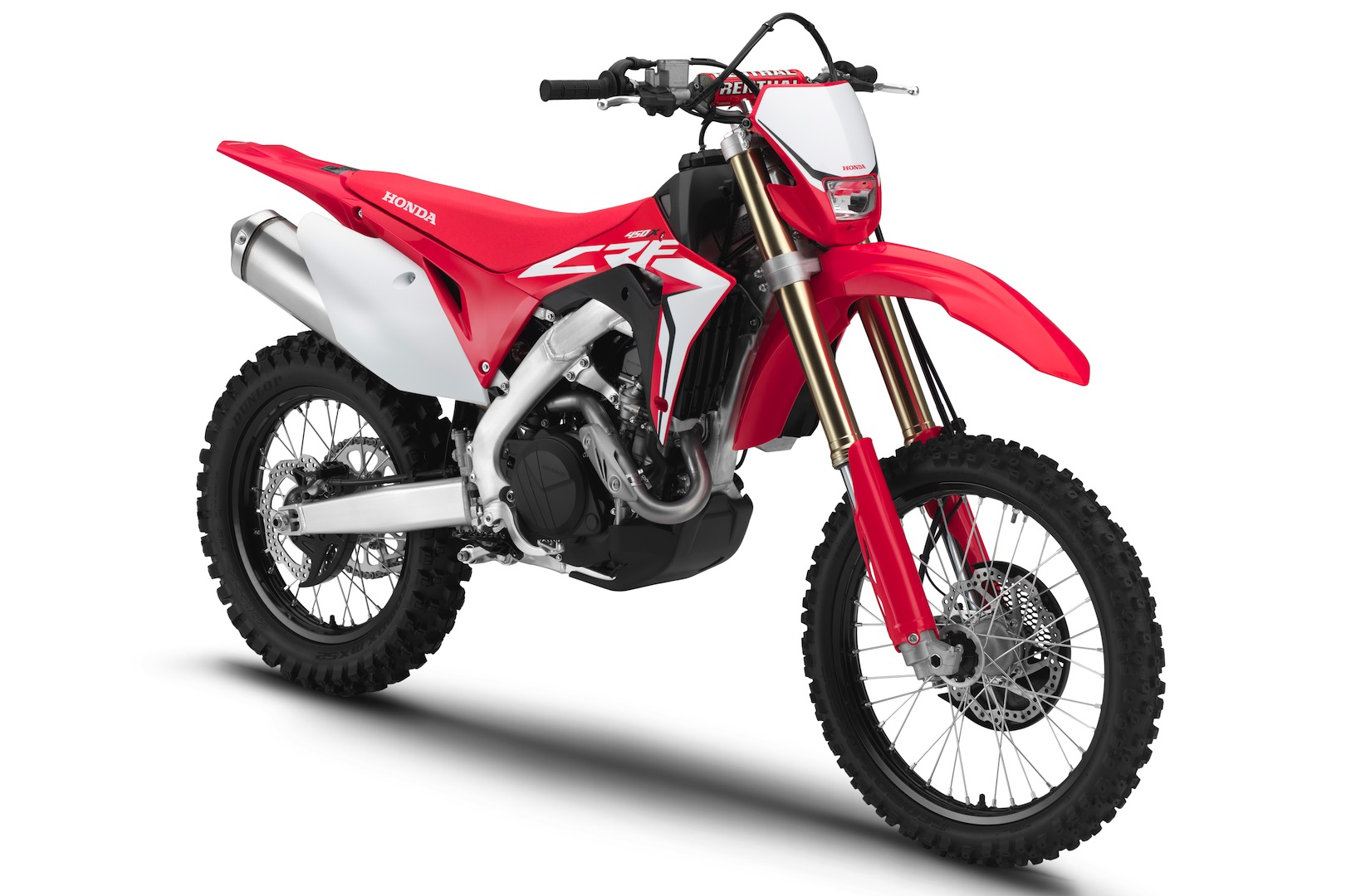 2019 honda crf450x review- right front
