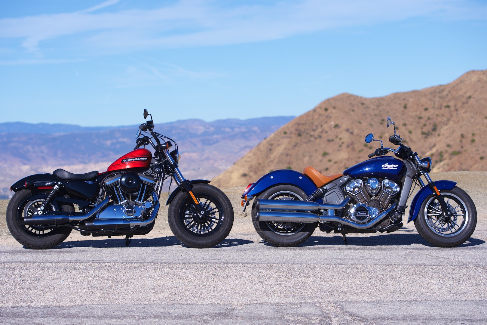 Harley-Davidson Forty-Eight Special vs. Indian Scout (2019 ...