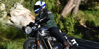 2019 Triumph Speed Twin Review - cornering motorcycle