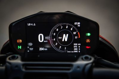2019 Ducati Hypermotard 950 gauges