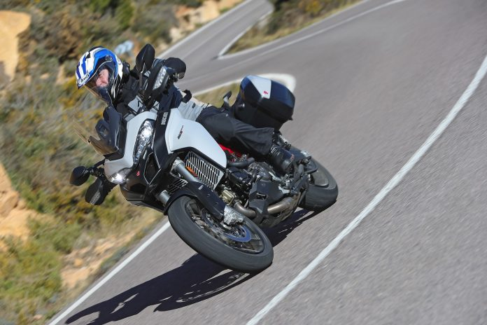 2019 Ducati Multistrada 950 S Review - right front action