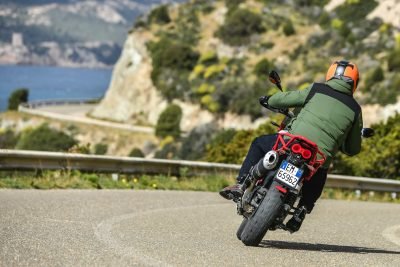 2020 Moto Guzzi V85 TT Adventure Review - rear view