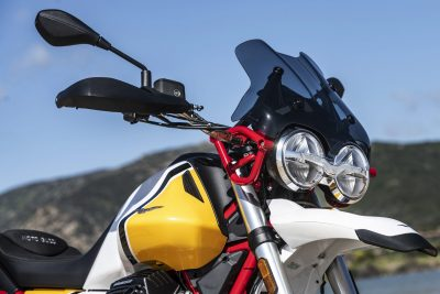 2020 Moto Guzzi V85 TT Adventure Review - headlights