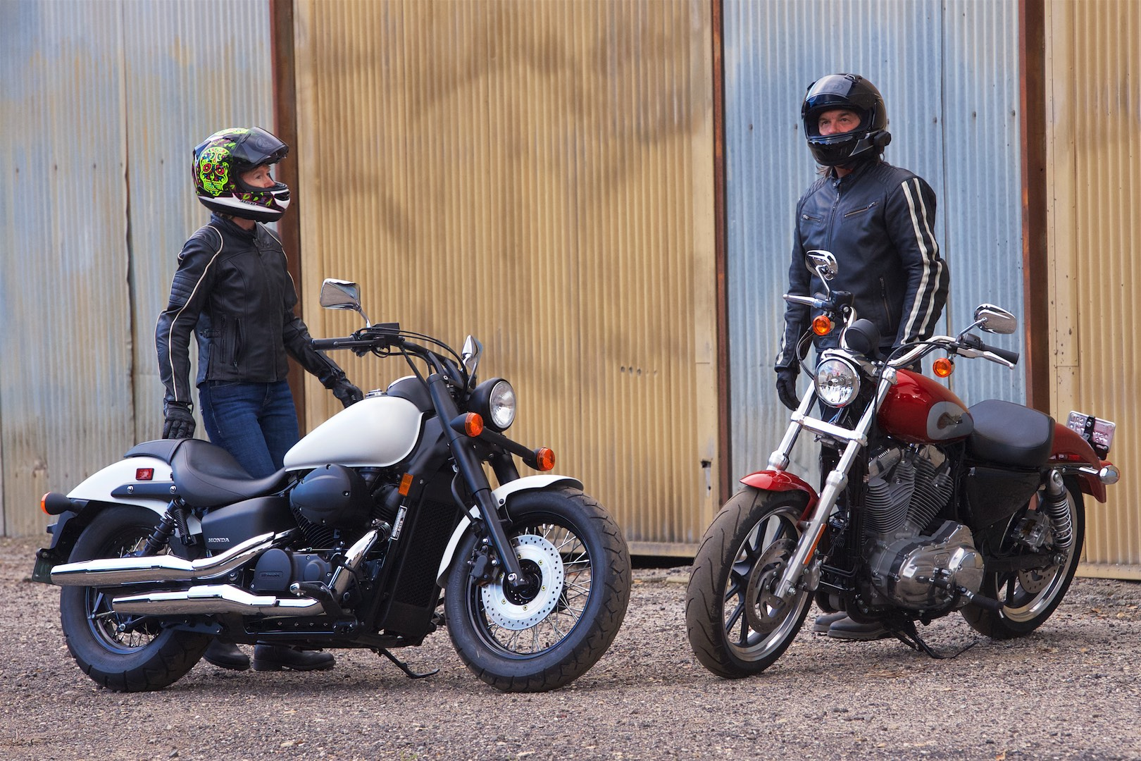 Honda and Harley comparison: Shadow Phantom Vs Sporster Superlow