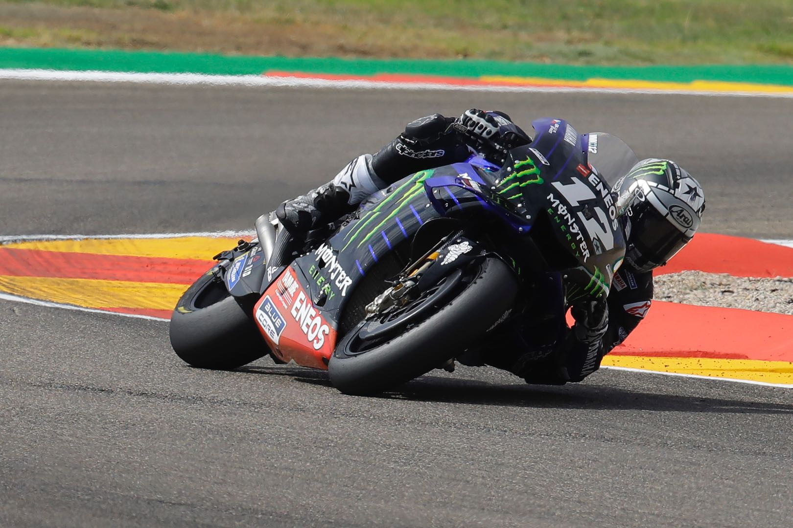 Yamaha's Maverick Vinales at Aragon MotoGP Friday practice 2019