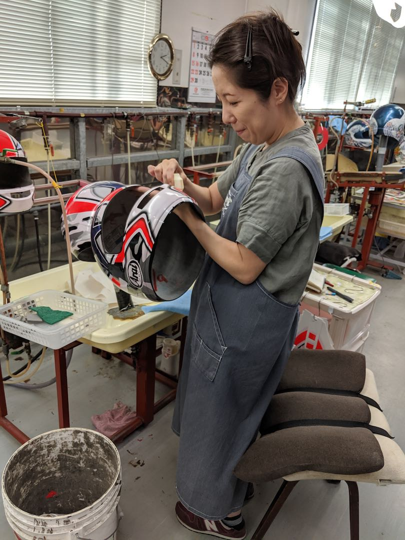 17 arai graphics being laid