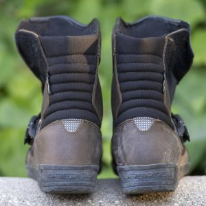 Gaerne Stelvio Aquatech motorcycle boots review -back
