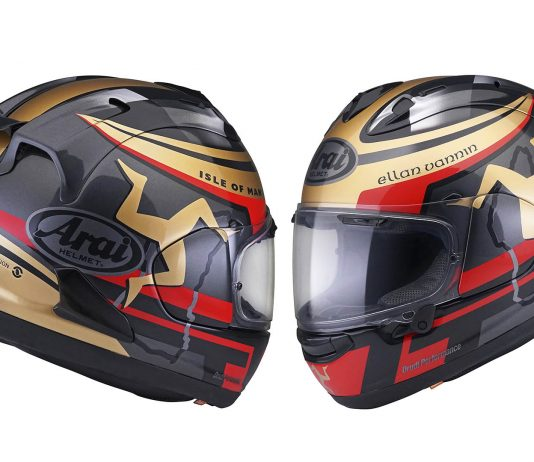 2020 Arai Isle of Man TT Limited Edition Corsair-X First Look - motorcycle helmet