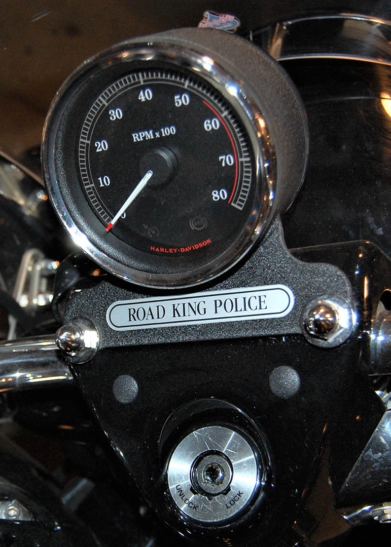 Run In With The Police A Harley Davidson Road King Police That Is