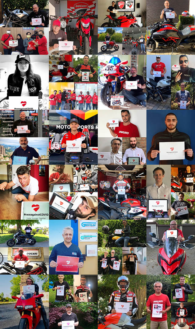 Ducati #RaceAgainstCovid Initiative - Ducatisti