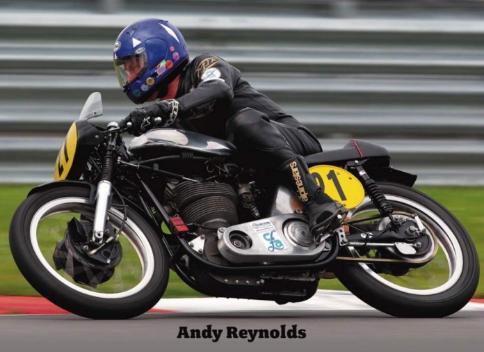Andy Reynolds racing classic motorcycles