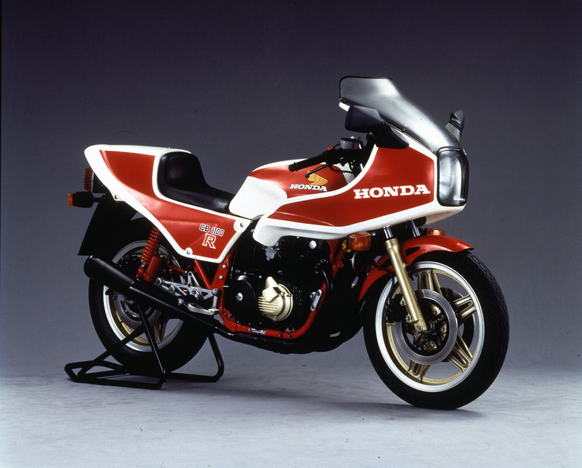 In 1981, Honda unleashed the furiously fast CB1100R and Ron Haslam and Wayne Gardner used it to great effect.